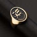 """Estate Jewelry:Rings, Gent's Gold & Enamel """"Griffin"""" Ring. ..."""