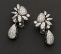 Estate Jewelry:Earrings, Andreoli Exquisite Diamond Earrings. ...