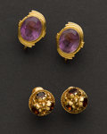 Estate Jewelry:Earrings, Early Gold & Gemstone Earrings. ...