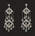 Estate Jewelry:Earrings, Exceptional Diamond & Gold Earrings. ...