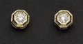 Estate Jewelry:Earrings, Antique Diamond Stud Earrings. ...