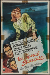 "The Spiral Staircase (RKO, 1945). One Sheet (27"" X 41""). Thriller"