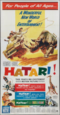 "Movie Posters:Adventure, Hatari! (Paramount, 1962). Three Sheet (41"" X 81""). Adventure.. ..."
