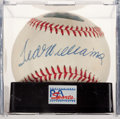 Baseball Collectibles:Balls, Ted Williams Single Signed Baseball, PSA NM-MT+ 8.5. ...