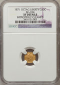 California Fractional Gold: , 1871 50C Liberty Octagonal 50 Cents, BG-924, R.3, -- ImproperlyCleaned -- NGC Details. XF. NGC Census: (0/22). PCGS Popula...