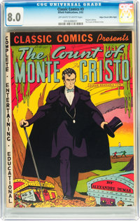 Classic Comics #3 The Count of Monte Cristo - Original Edition - Mile High pedigree (Elliott Publishing, 1942) CGC VF 8...