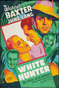 "Movie Posters:Adventure, White Hunter (20th Century Fox, 1936). Poster (40"" X 60""). SilkScreen Style. Adventure.. ..."