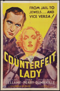 """Movie Posters:Adventure, Counterfeit Lady (Columbia, 1936). One Sheet (27"""" X 41"""").Adventure.. ..."""