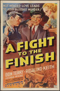 "Movie Posters:Drama, A Fight to the Finish (Columbia, 1937). One Sheet (27"" X 41""). Drama.. ..."
