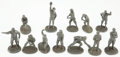 Baseball Collectibles:Others, 1979 Signature Miniatures Pewter Statues Lot Of 12....