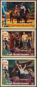 "Movie Posters:Western, Single Handed Sanders and Other Lot (Monogram, 1932). Lobby Cards (3) (11"" X 14""). Western.. ... (Total: 3 Items)"