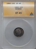 Coins of Hawaii: , 1883 10C Hawaii Ten Cents XF45 ANACS. NGC Census: (29/218). PCGSPopulation (72/303). Mintage: 250,000. (#10979)...