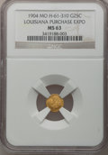 Expositions and Fairs, 1904 Missouri, Louisiana Purchase Exposition G25C Medal MS63 NGC. H-61-310....