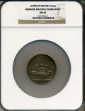 Expositions and Fairs, (1909) New York Hudson-Fulton Celebration Medal MS62 NGC. Silver,51mm....
