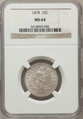 Seated Quarters, 1878 25C MS64 NGC....
