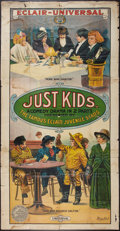 """Movie Posters:Comedy, Just Kids (Universal Film Manufacturing, 1914). Three Sheet (42"""" X81""""). Comedy.. ..."""