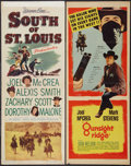 "Movie Posters:Western, South of St. Louis and Other Lot (Warner Brothers, 1949). Inserts (2) (14"" X 36""). Western.. ... (Total: 2 Items)"
