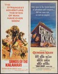 "Movie Posters:Adventure, Sands of the Kalahari & Other Lot (Paramount, 1965). Inserts(2) (14"" X 36""). Adventure.. ... (Total: 2 Items)"