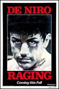 "Movie Posters:Drama, Raging Bull (United Artists, 1980). Autographed One Sheet (27"" X 41"") Advance. Drama.. ..."