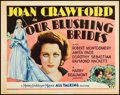 "Movie Posters:Drama, Our Blushing Brides (MGM, 1930). Title Lobby Card (11"" X 14""). Drama.. ..."