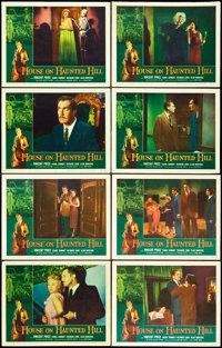 """House on Haunted Hill (Allied Artists, 1959). Lobby Card Set of 8 (11"""" X 14""""). Horror. ... (Total: 8 Items)"""