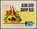 "Movie Posters:War, The Deep Six and Other Lot (Warner Brothers, 1958). Half Sheet (22""X 28"") and Insert (14"" X 36""). War.. ... (Total: 2 Items)"