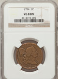 Large Cents, 1794 1C Head of 1795 VG8 Brown NGC. NGC Census: (12/353). PCGSPopulation (19/417). Mintage: 918,521. Numismedia Wsl. Price...
