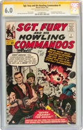 Silver Age (1956-1969):War, Sgt. Fury and His Howling Commandos #1 Signed by Stan Lee and Dick Ayers (Marvel, 1963) CGC Signature Series FN 6.0 Off-white ...