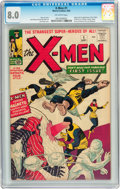 Silver Age (1956-1969):Superhero, X-Men #1 (Marvel, 1963) CGC VF 8.0 Off-white pages....