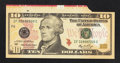 Error Notes:Attached Tabs, Fr. 2040-F $10 2006 Federal Reserve Note. Very Choice CrispUncirculated.. ...