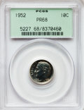 Proof Roosevelt Dimes: , 1952 10C PR68 PCGS. PCGS Population (30/0). NGC Census: (125/13).Mintage: 81,980. Numismedia Wsl. Price for problem free N...