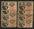 Fractional Currency:Fifth Issue, Eight 25¢ Fifth Issue Notes Good-Fine.. ... (Total: 8 notes)