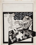 """Original Comic Art:Panel Pages, Steve Ditko Graphic Illusions #1 Mr. A """"You Are Nothing toFear"""" Back Cover Illustration Original Art ..."""