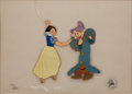 Animation Art:Limited Edition Cel, Snow White and Dopey Limited Edition Cel Animation Art #130/275(Disney, 1970s)....