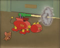 Animation Art:Production Cel, Tom and Jerry Push-Button Kitty Production Cel Set-Up withBackground Original Art (MGM, 1952)....