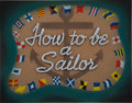 Animation Art:Production Drawing, How to be a Sailor Title Card Animation Art (Disney,1944)....