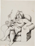 Original Comic Art:Sketches, Robert Crumb Oggie the Frog Sketch Original Art (c. 1964)....