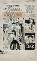 """Original Comic Art:Complete Story, Alex Toth and Mike Peppe Intimate Love #26 Complete 10-PageStory """"Lonesome for Kisses"""" Original Art (Standard, 19..."""