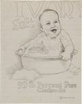 Original Comic Art:Sketches, Robert Crumb Ivory Soft Sketchbook Page Original Art (1962)....