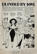 """Original Comic Art:Complete Story, Alex Toth and Mike Peppe Popular Romance #22 Complete10-Page Story """"Blinded by Love"""" Original Art (Standard, 1953..."""