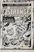 Original Comic Art:Covers, Gil Kane and Dan Adkins Doctor Strange #9 Dread Dormammu Cover Original Art (Marvel, 1975)....