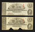 Confederate Notes:1863 Issues, T58 $20 1863. Two Examples.. ... (Total: 2 notes)