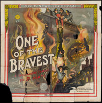 """One of the Bravest (Universal Film Manufacturing, 1914). Six Sheet (81"""" X 81""""). War"""