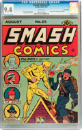 Golden Age (1938-1955):Superhero, Smash Comics #25 Billy Wright pedigree (Quality, 1941) CGC NM 9.4 White pages....