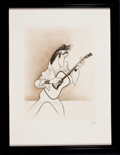 Paintings, AL HIRSCHFELD (American, 1903-2003). Elvis. Etching, Ed. 131/150. 13.5 x 10.5 in. (image). Signed in pencil lower right...