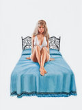 Pulp, Pulp-like, Digests, and Paperback Art, ROBERT BONFILS (American, b. 1922). The Bed Suzi Made, GreenleafClassics MR7415 paperback cover. Gouache on board. 10 x...