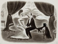 "Pulp, Pulp-like, Digests, and Paperback Art, RICHARD TAYLOR (American, 1902-1970). ""Darling, You've Changed"",New Yorker cartoon illustration, March 16, 1940. Pen an..."