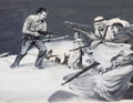 Pulp, Pulp-like, Digests, and Paperback Art, RAFAEL DESOTO (American, 1904-1992). War Time, men's adventuremagazine story illustration. Gouache on board. 16 x 22 in...