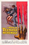 "Movie Posters:Horror, I Was a Teenage Werewolf (American International, 1957). MP Graded One Sheet (27"" X 41"").. ..."