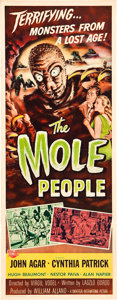 "Movie Posters:Science Fiction, The Mole People (Universal International, 1956). MP Graded Insert(14"" X 36"").. ..."